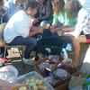 Preparing the veges