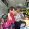 Hineraukura, Grasyn, Anne, Rachel and Mihi in the ambulance