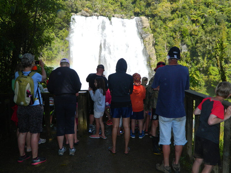 Learning about Marakopa Falls