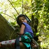 """Abseiling is easy!"" says Lucy"