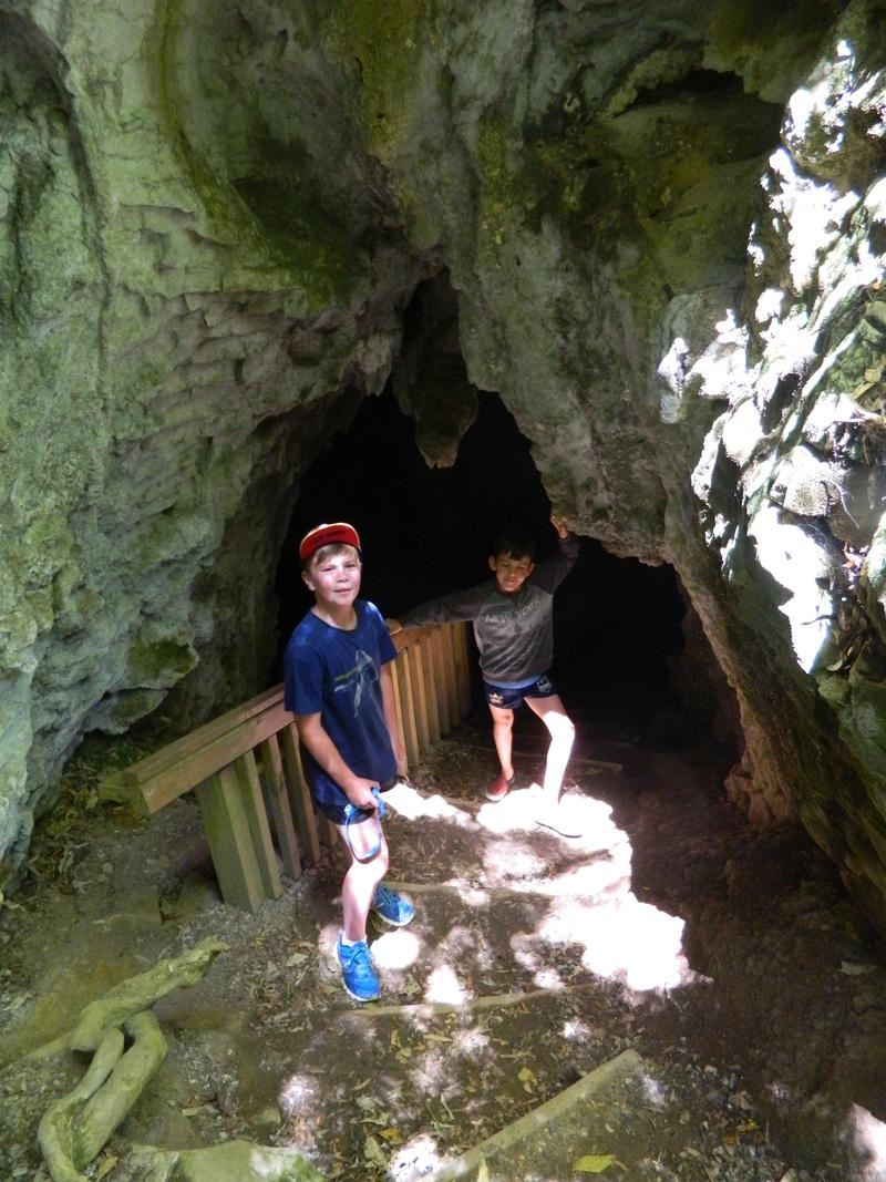 Max and Jared at Rua Kuri Cave