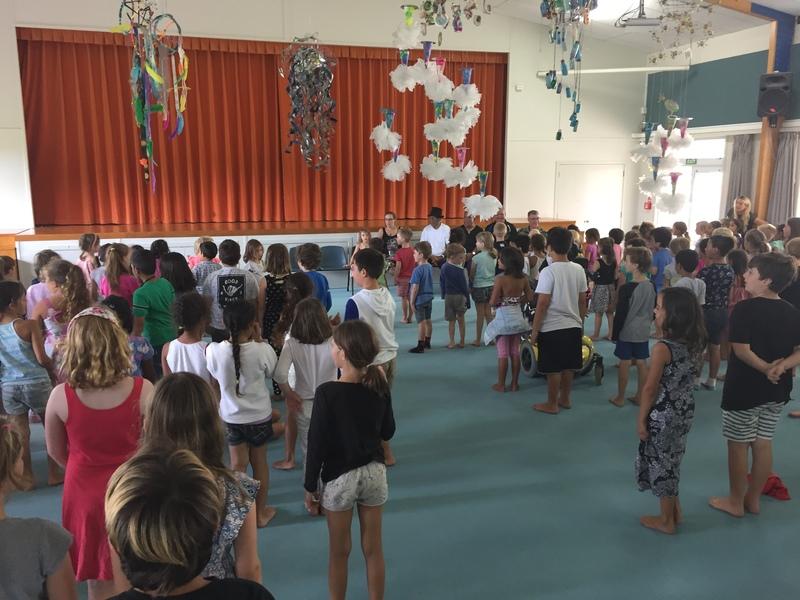 We sang Tihei Mauri Ora and Te Aroha