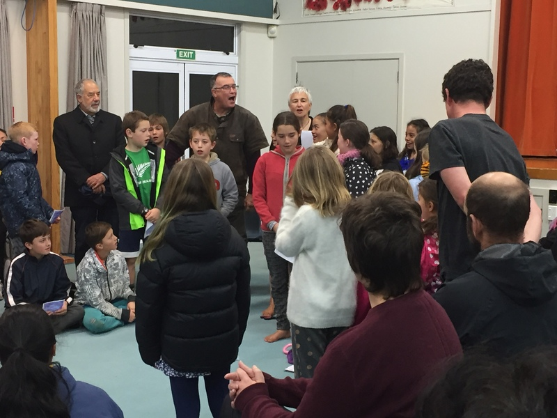 Speeches and waiata