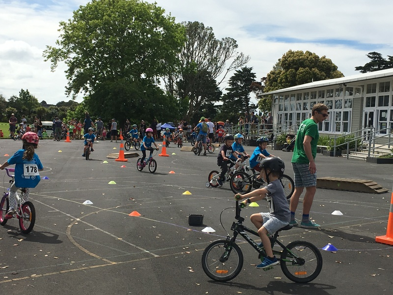The young ones cycle section is kept int the school grounds.