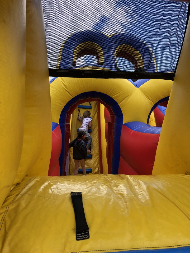 Inside the obstacle course