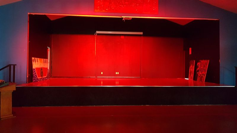 Red Hall Lighting System