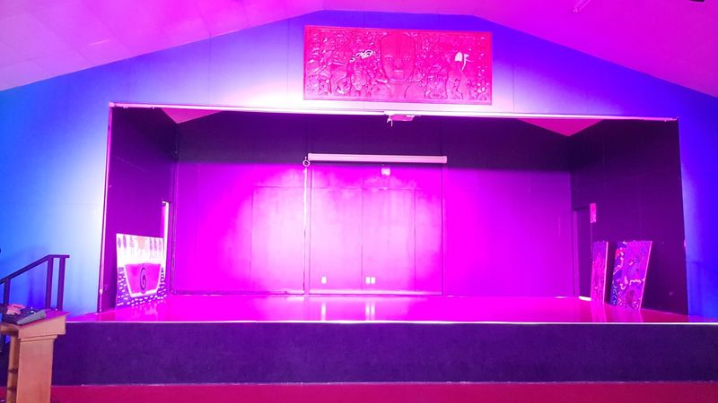 Pink Lighting in the hall