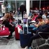 waiting at Alexandria airport