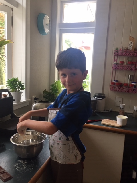 Victor's turn in the kitchen